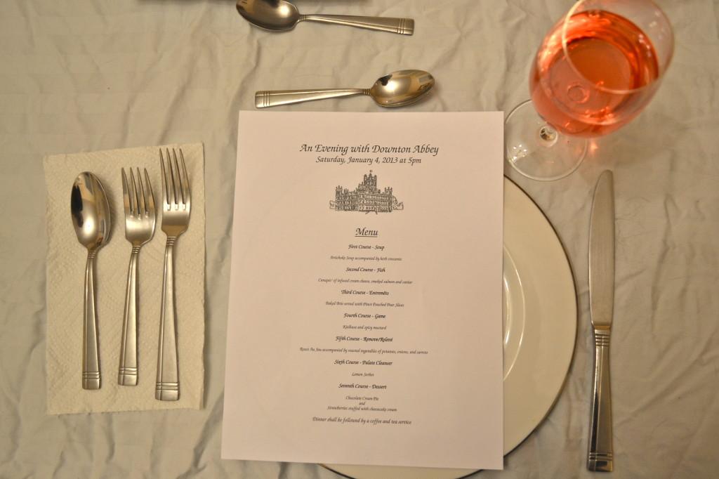 Downton Abbey Dinner Party Menu