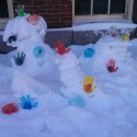 Art Activity: Ice Glove Sculptures