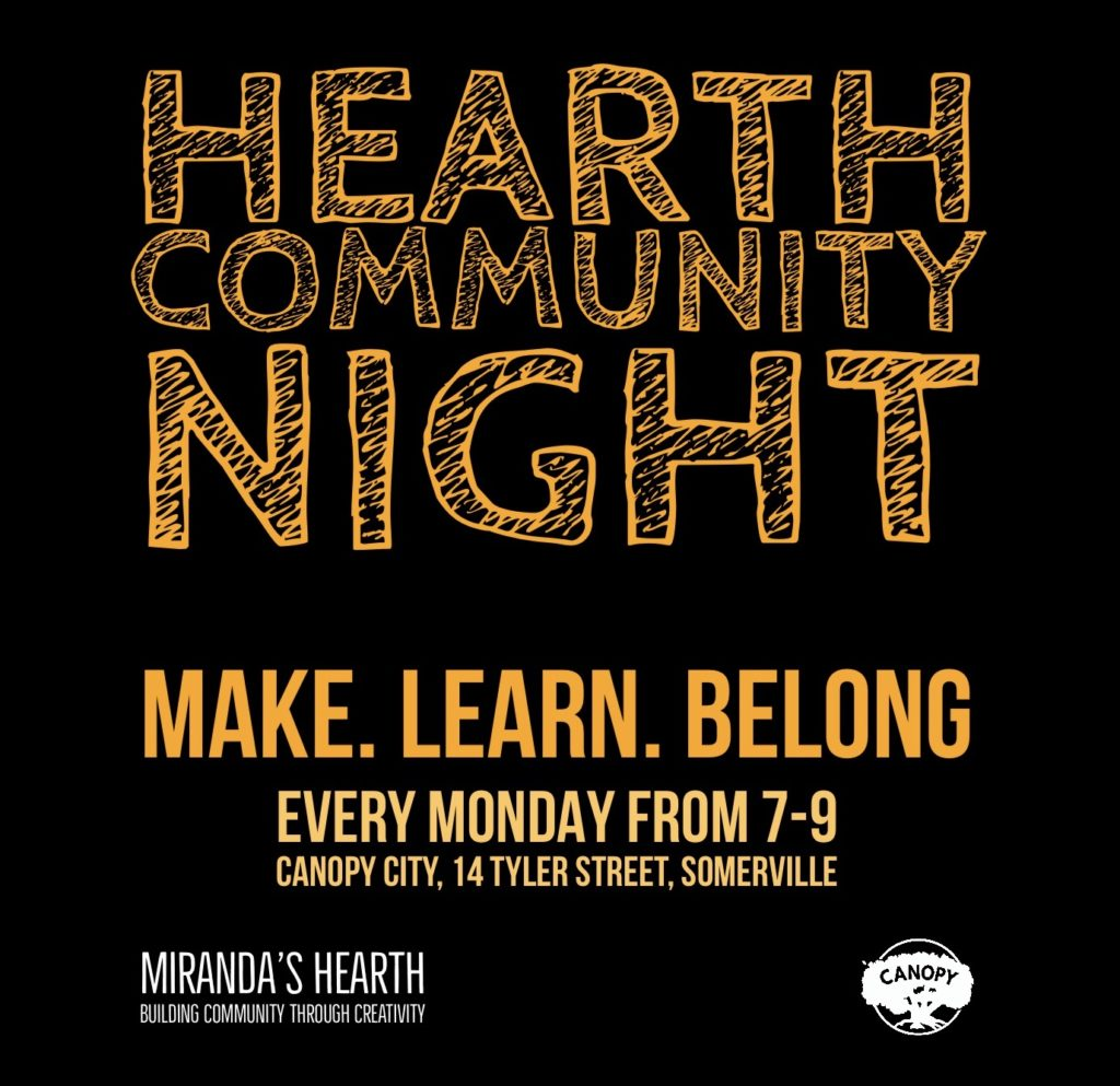 Hearth Community Night @ Canopy City | Somerville | Massachusetts | United States